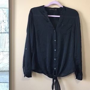 Limited Button Down Sheer Blouse